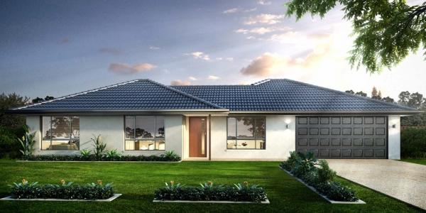 The Brindabella New Home Design With the Central Facade