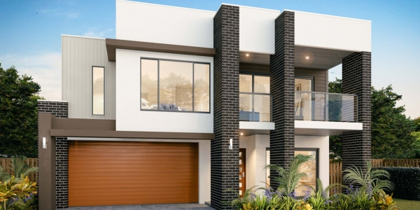 The City View New Home Design With the Display Facade