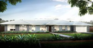 The Seaview New Home Design With the Central Facade