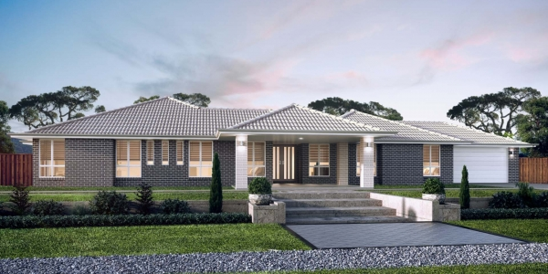 The Stirling New Home Design With the Central Facade