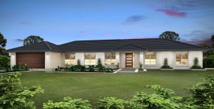 The Willowvale New Home Design With the Central Facade